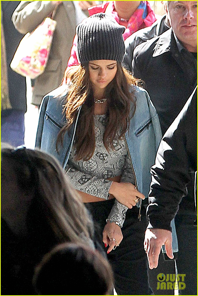 selena gomez films adidas ad in nyc 123069887