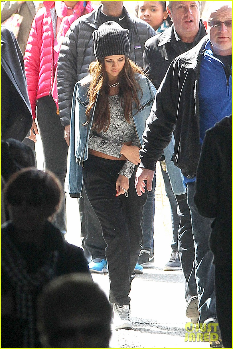 selena gomez films adidas ad in nyc 143069889