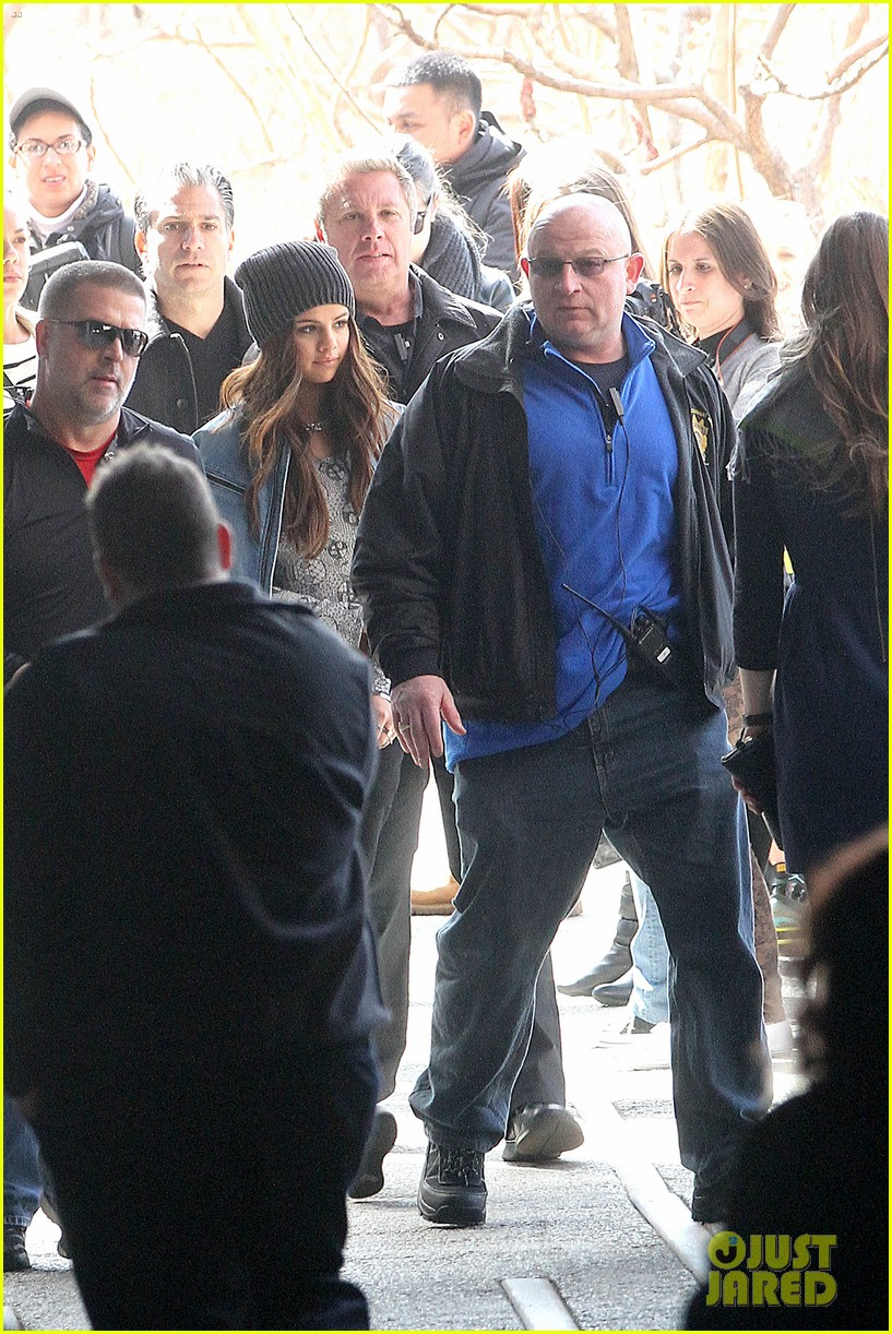 selena gomez films adidas ad in nyc 15