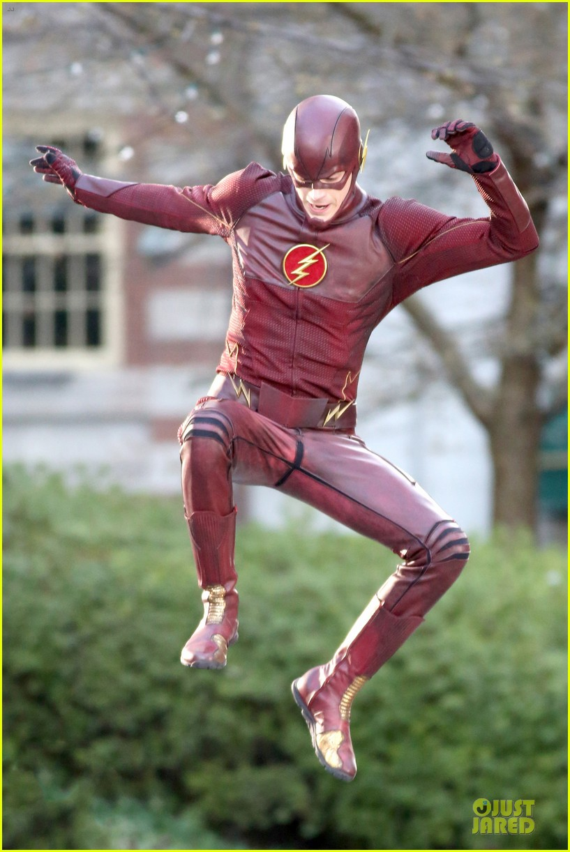 grant gustin is proud stoked to wear flash costume 063070235