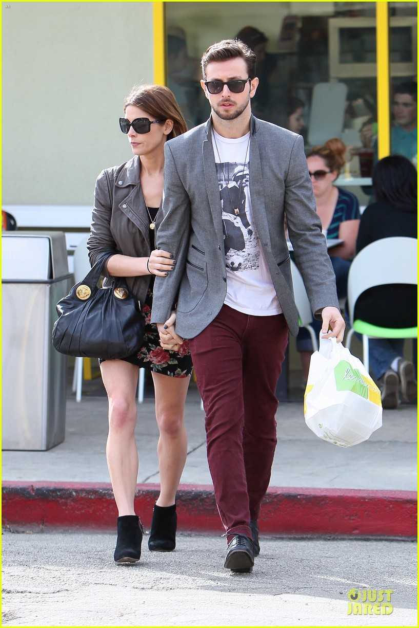 ashley greene paul khoury go in for a kiss after lunch 013066327
