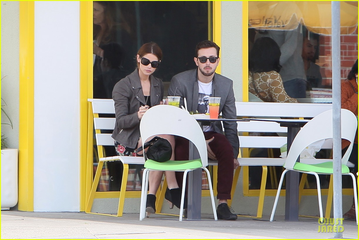 ashley greene paul khoury go in for a kiss after lunch 073066333