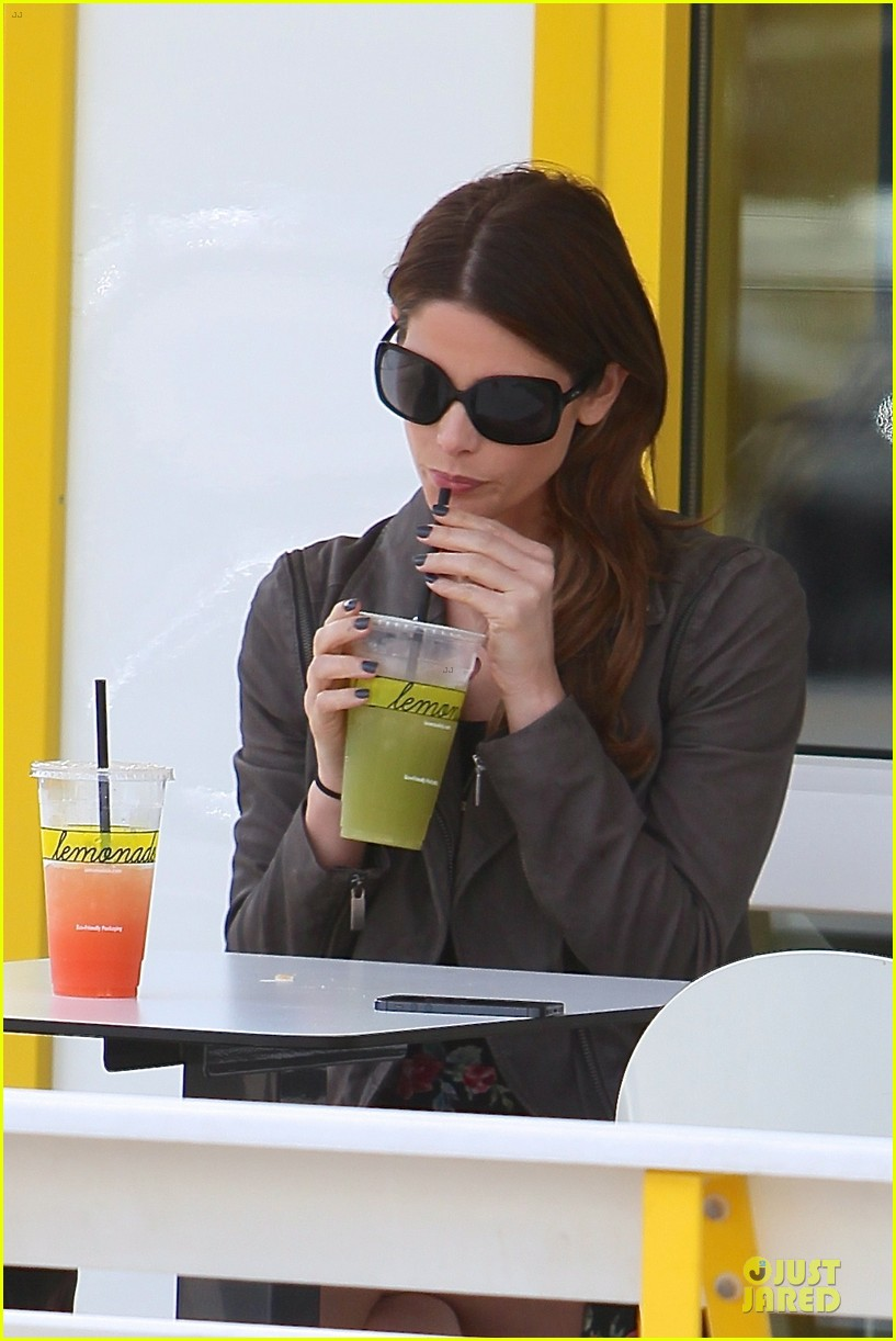 ashley greene paul khoury go in for a kiss after lunch 093066335