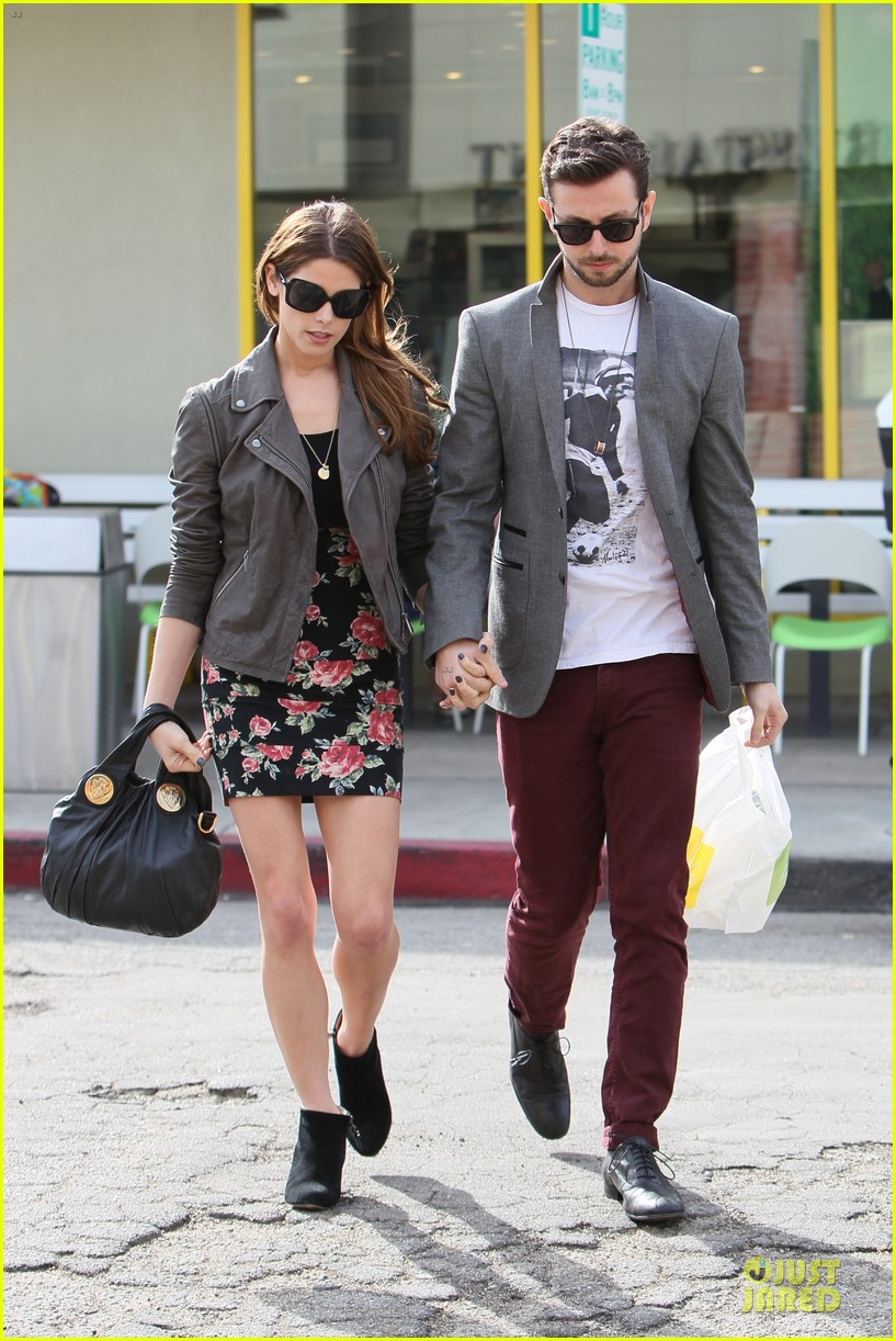 ashley greene paul khoury go in for a kiss after lunch 113066337
