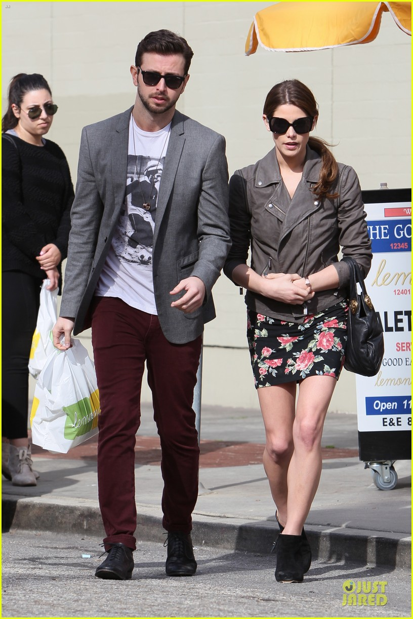ashley greene paul khoury go in for a kiss after lunch 153066341