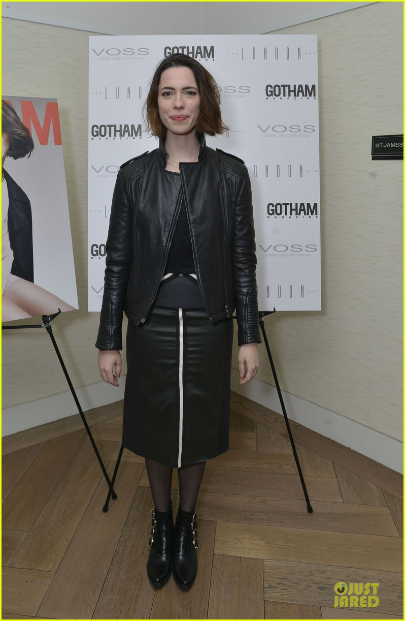 rebecca hall sports leather for gotham magazine cover party 013062740