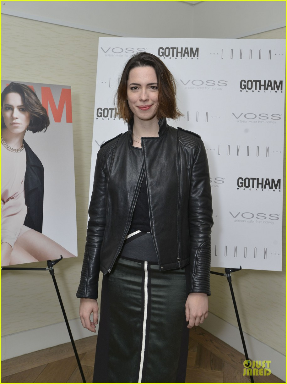 rebecca hall sports leather for gotham magazine cover party 023062741