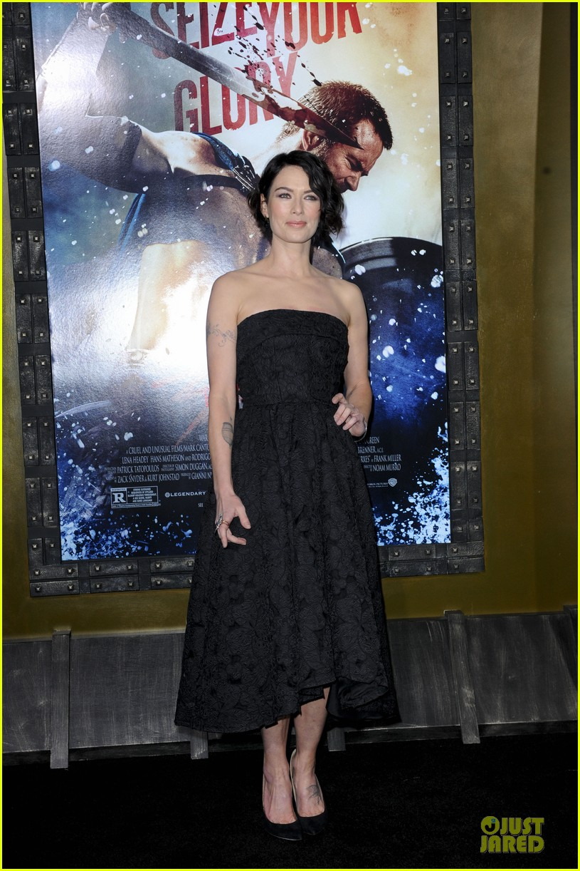 lena headey shows tattoos at 300 premiere with eva green 013066275