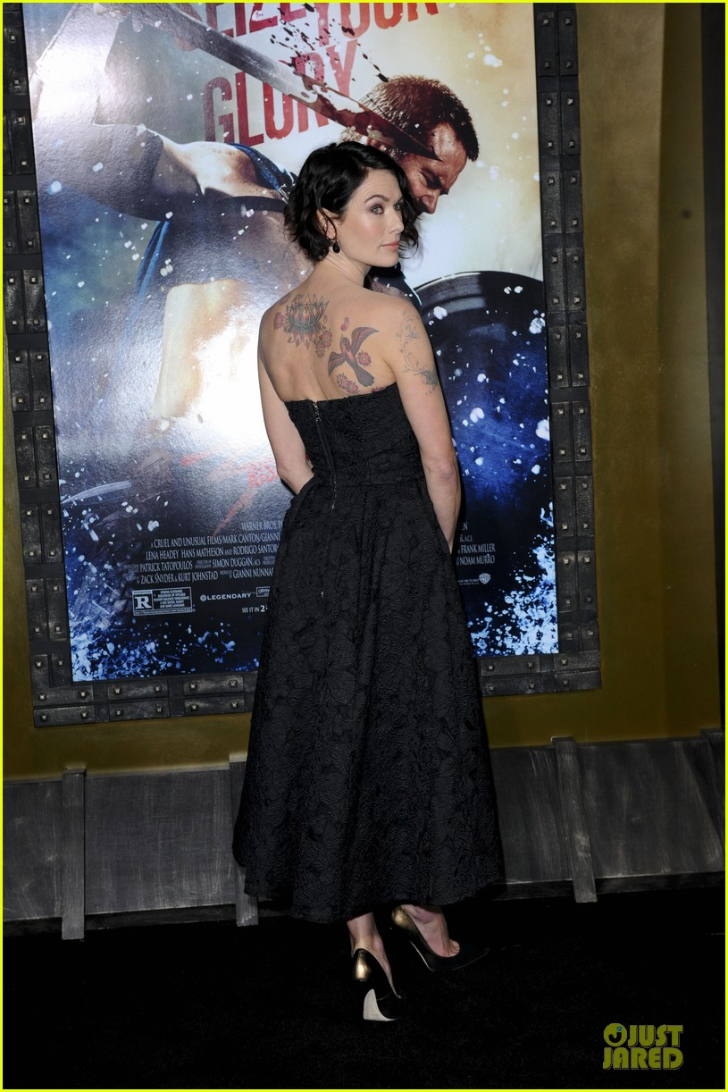 lena headey shows tattoos at 300 premiere with eva green 153066289