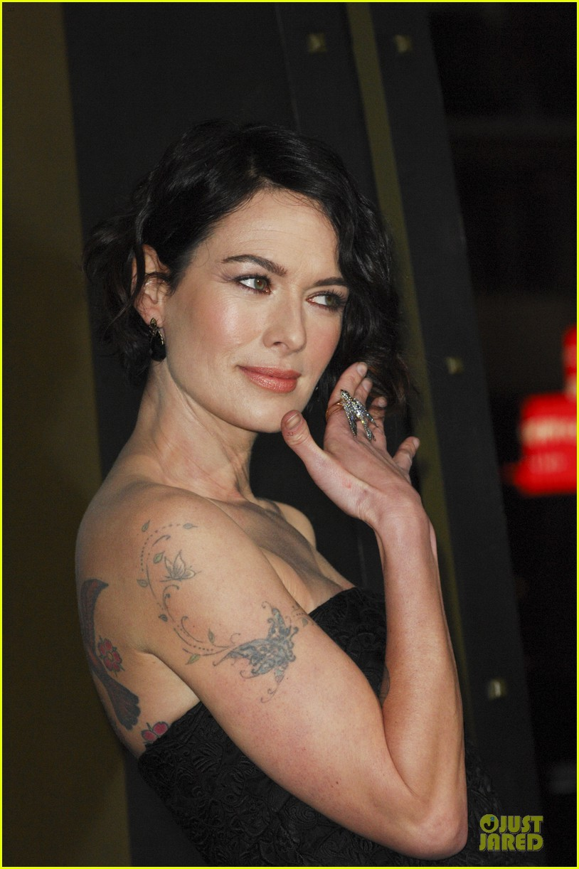 lena headey shows tattoos at 300 premiere with eva green 173066291