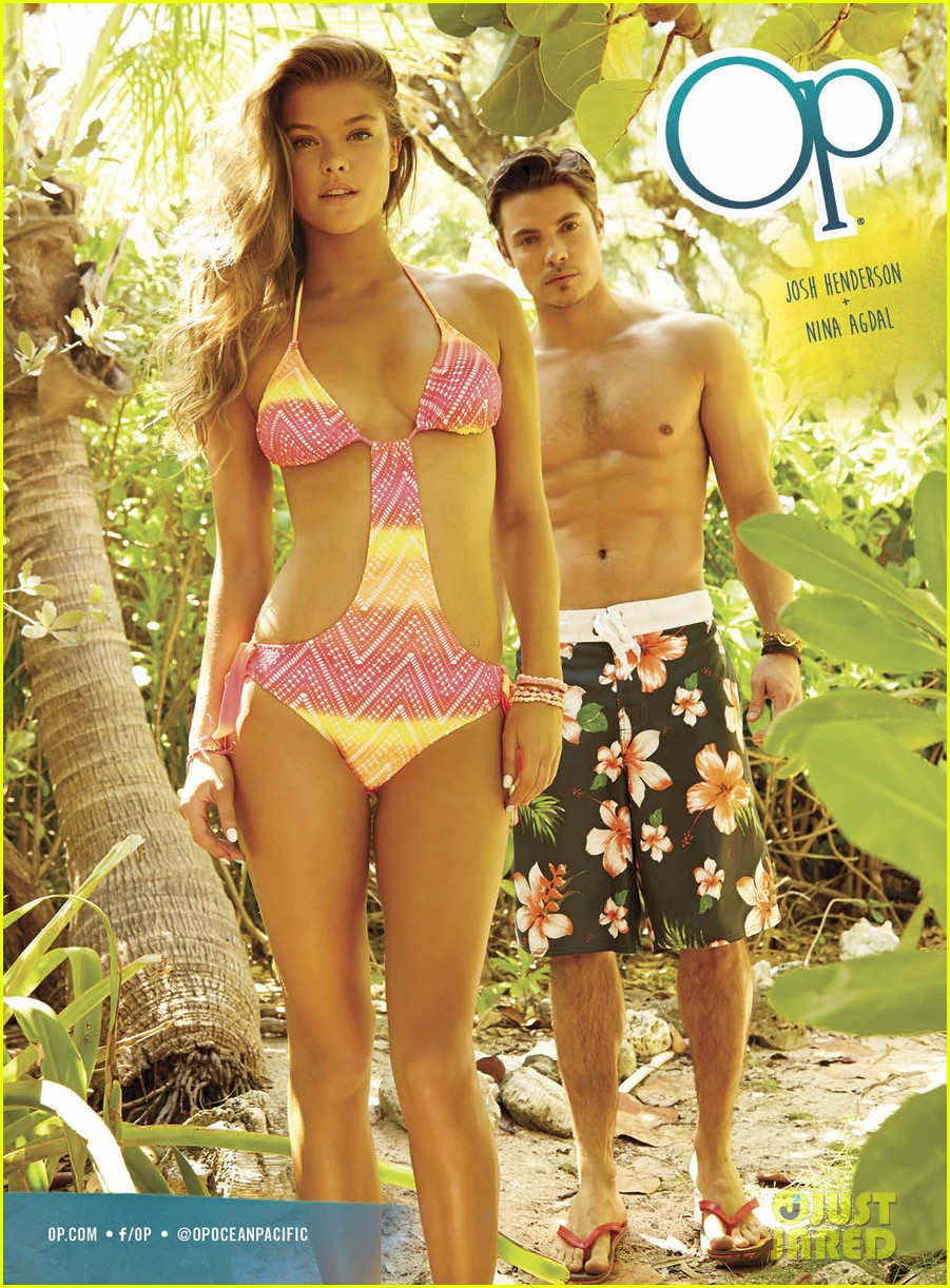 shirtless josh hendersons six pack is unreal in op ads with bikini clad nina agdal 083070395