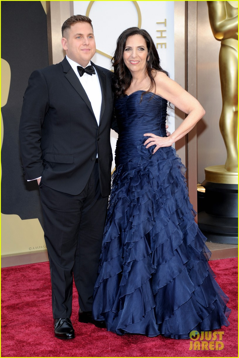 jonah hill brought his mom sharon to the oscars 2014 033064241