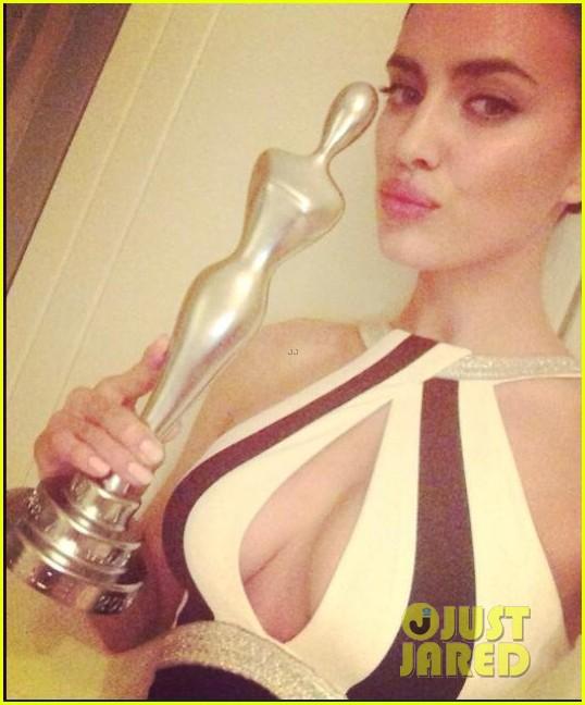 irina shayk assets plunging neckline gala spa awards 2014 023072735