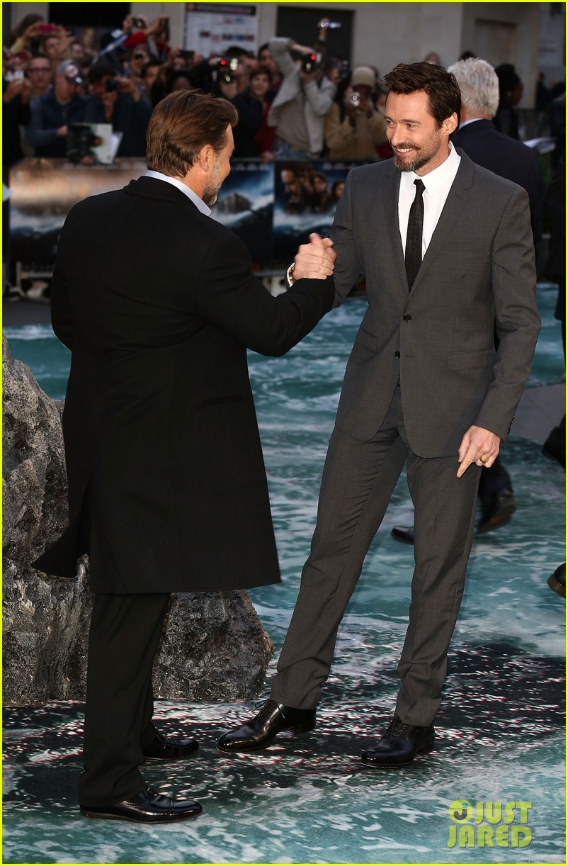 hugh jackman supports russell crowe noah uk premiere 113082421