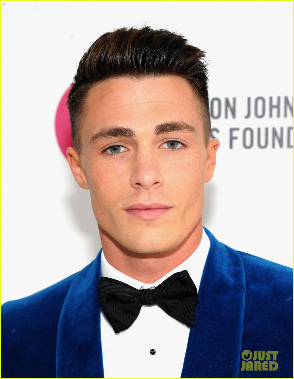 joe jonas colton haynes elton john oscars party 2014 033064090
