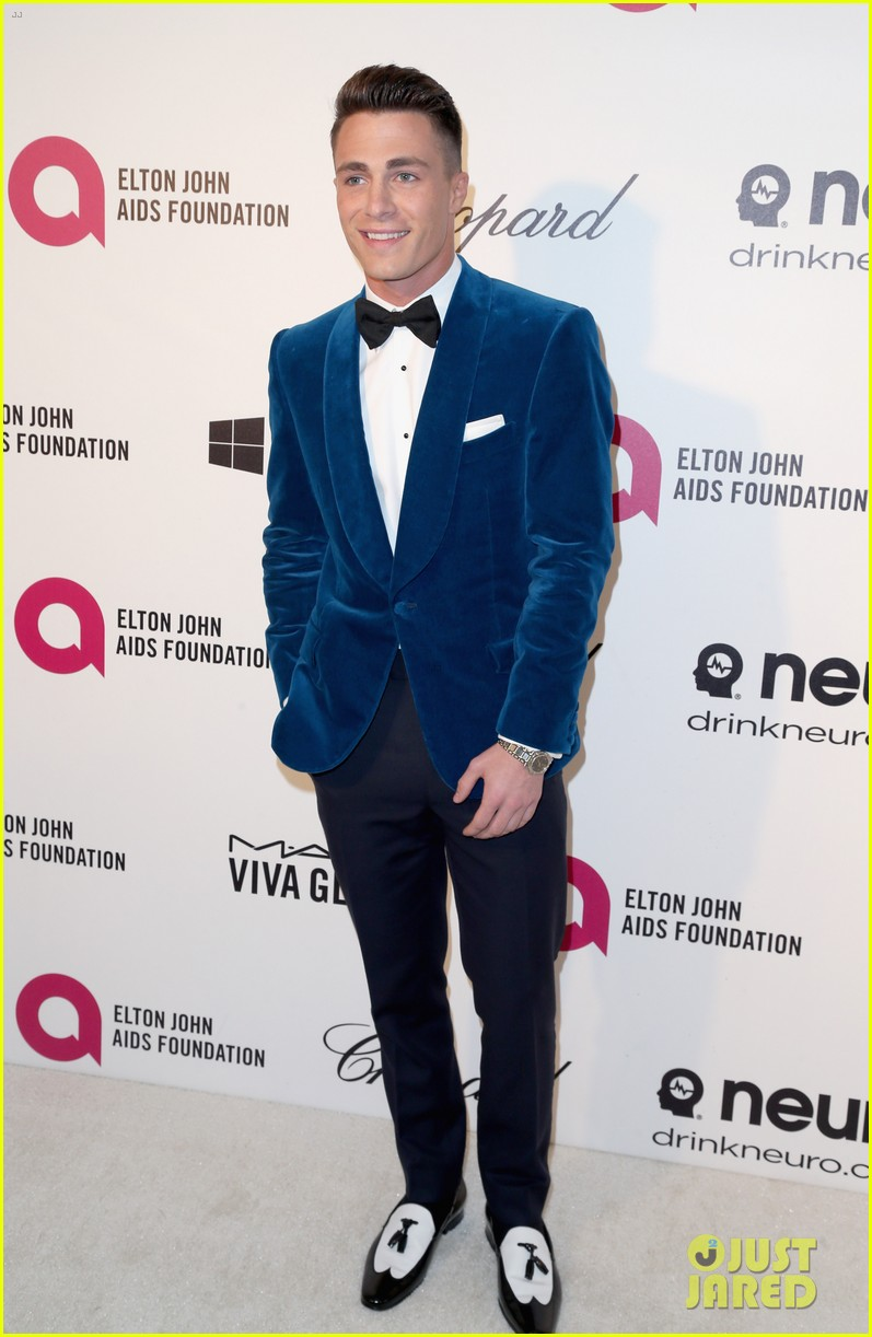 joe jonas colton haynes elton john oscars party 2014 053064092