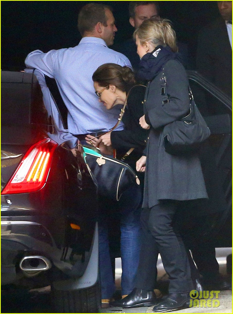 angelina jolie ducks into her car after quick london trip 033079726