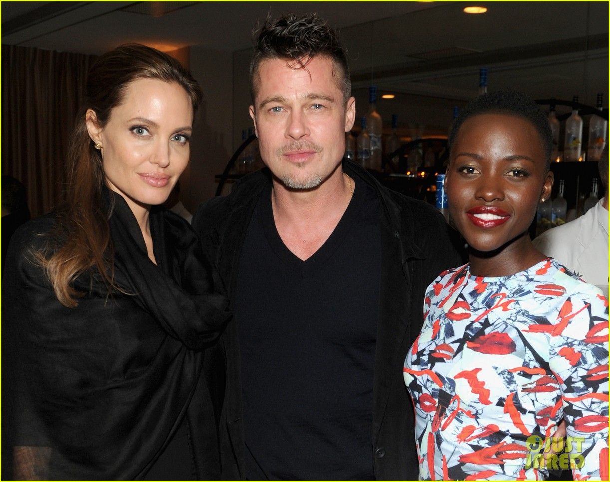 angelina jolie brad pitt 12 years dinner with lupita nyongo 073063348
