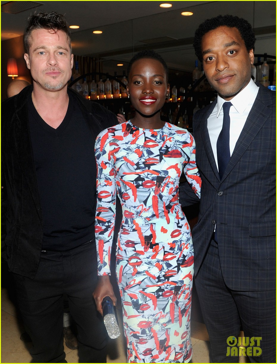 angelina jolie brad pitt 12 years dinner with lupita nyongo 113063352