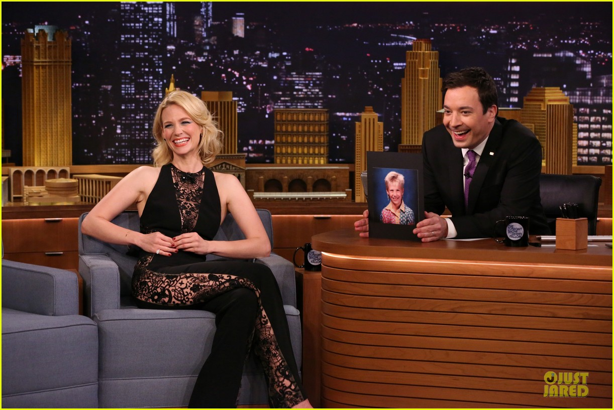january jones sheer side tonight show 01