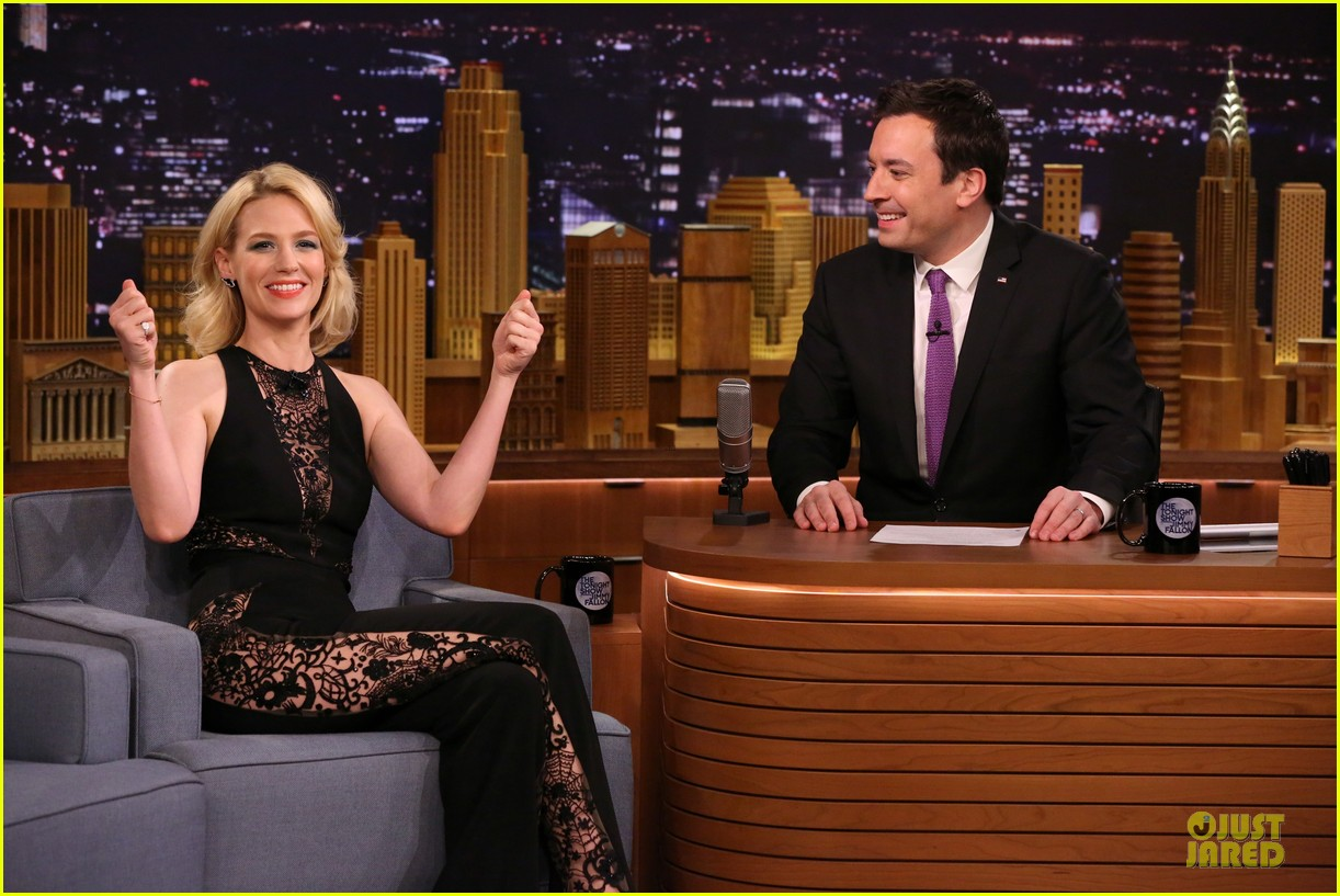 january jones sheer side tonight show 07