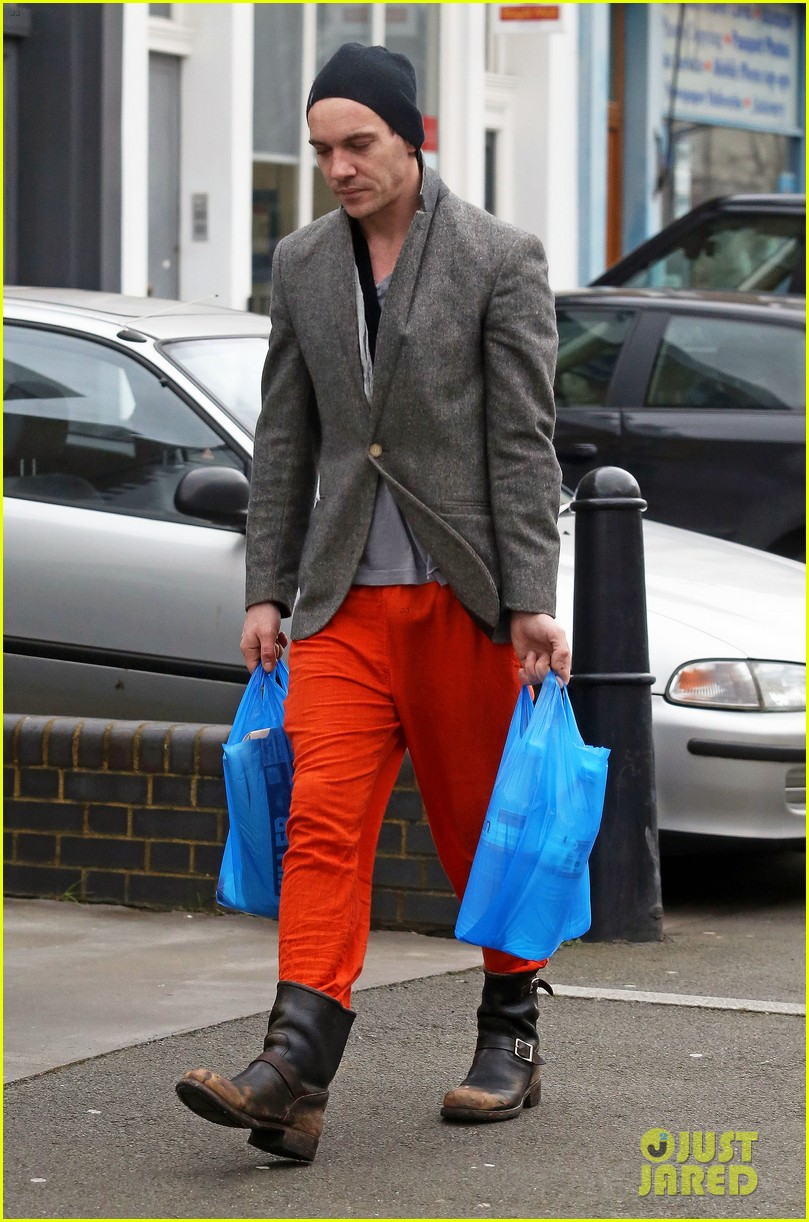 jonathan rhys meyers is hard to miss in bright red pants 013066679