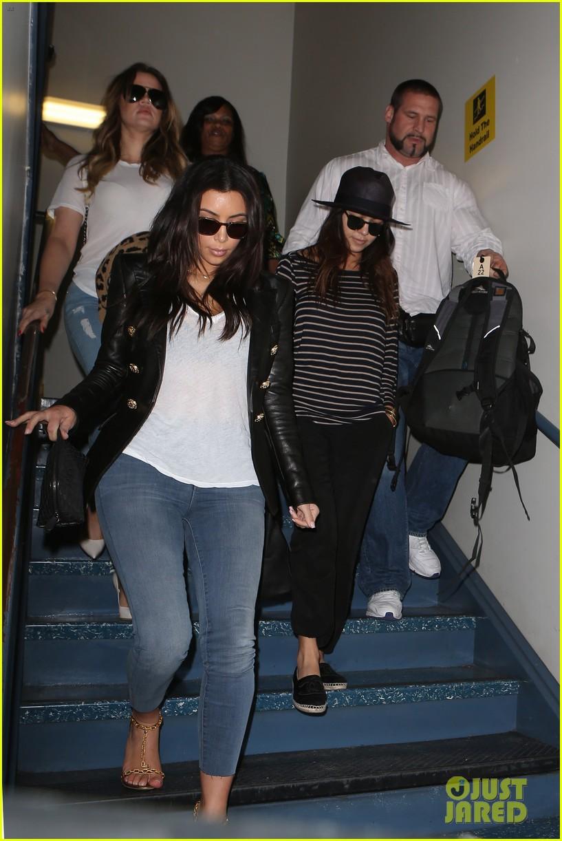 kim kourtney khloe kardashian back in los angeles after miami trip 063071369