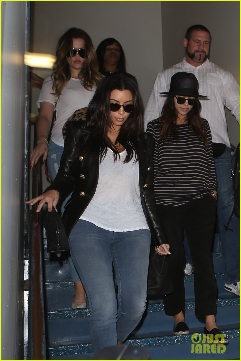 kim kourtney khloe kardashian back in los angeles after miami trip 073071370