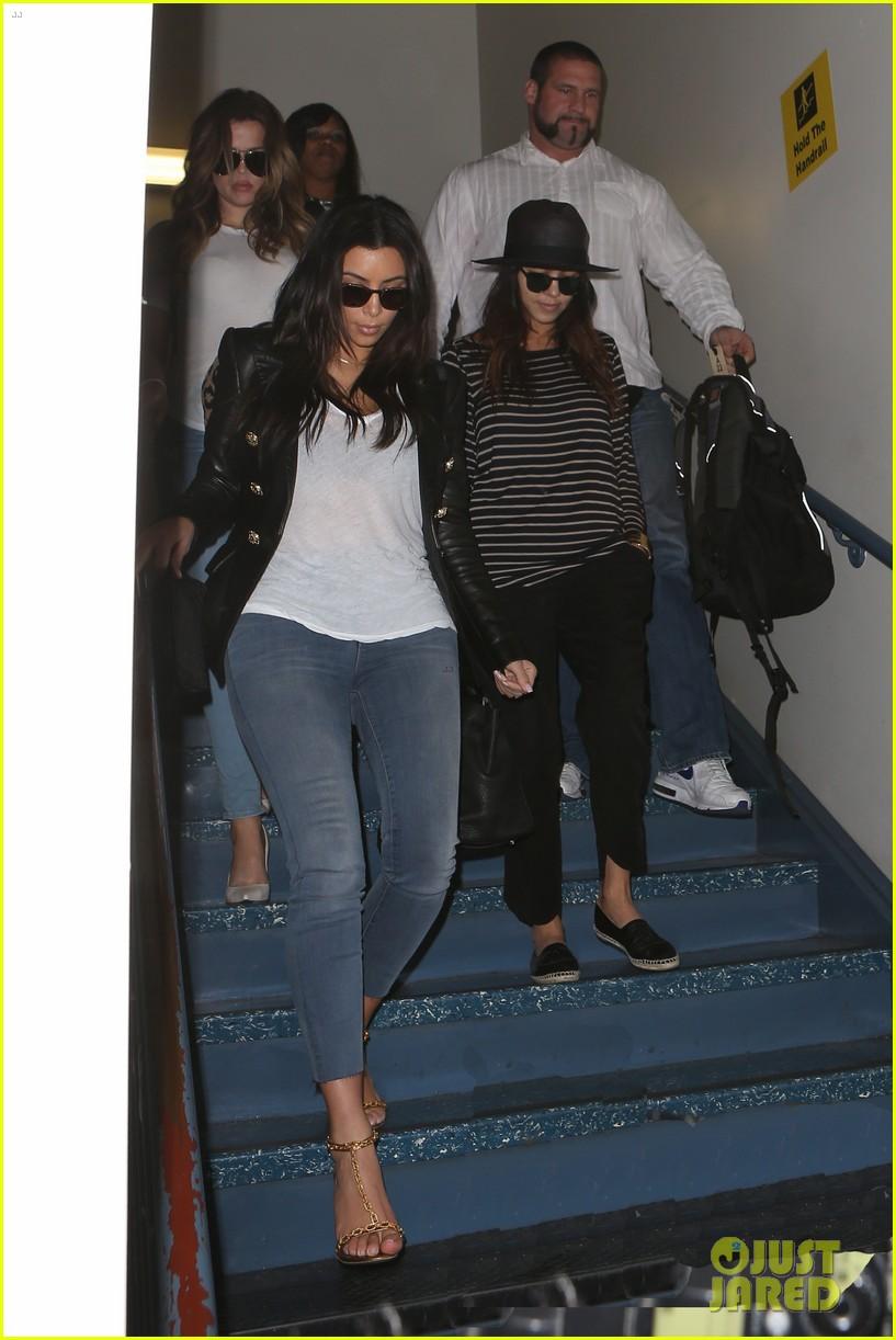 kim kourtney khloe kardashian back in los angeles after miami trip 083071371