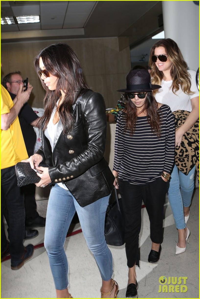 kim kourtney khloe kardashian back in los angeles after miami trip 093071372