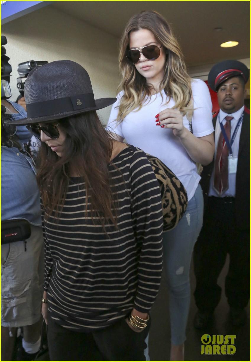 kim kourtney khloe kardashian back in los angeles after miami trip 293071392