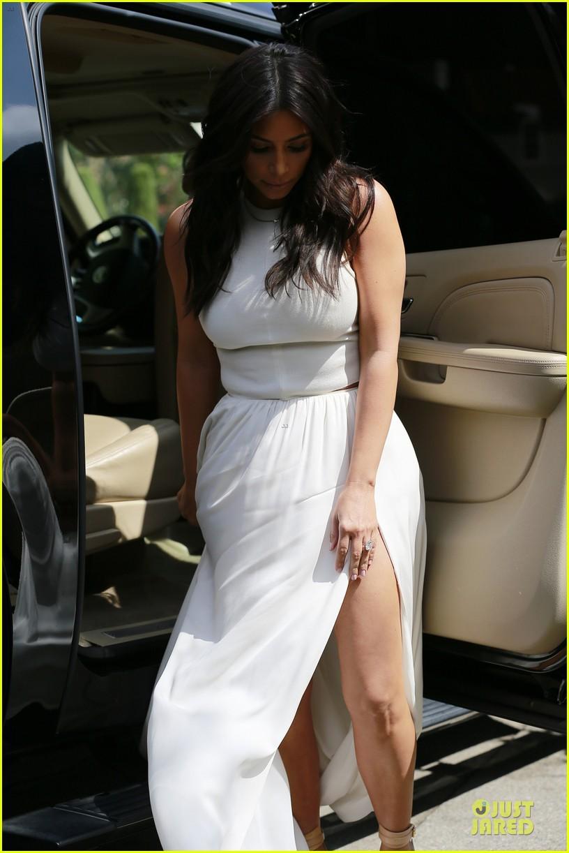 Kim Kardashian Slits It Up For Ciarau0027s Baby Shower!