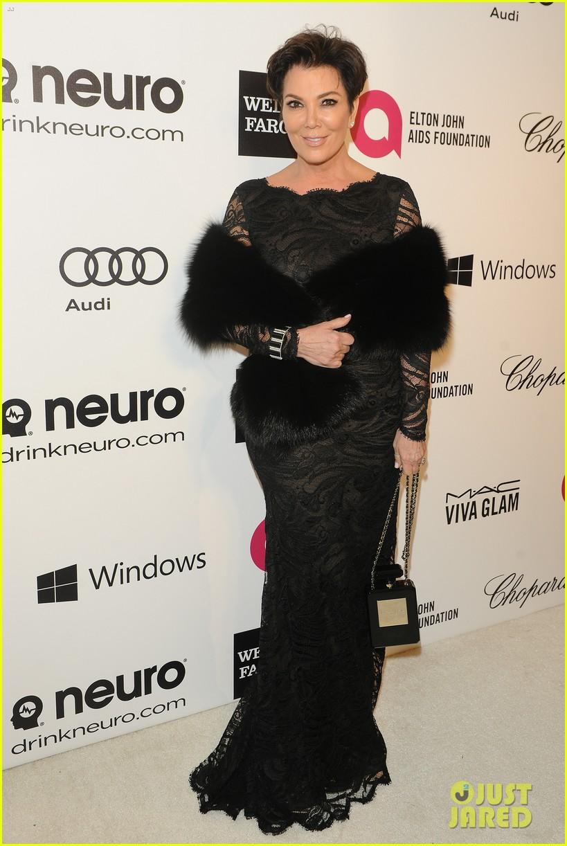 kardashian sisters kris jenner elton john oscars party 2014 01
