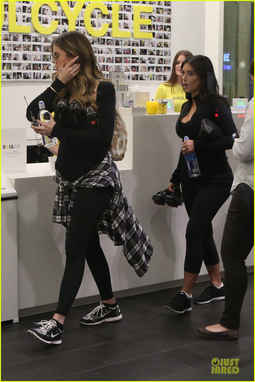 kim kardashian cleavage for soulcycle workout 073069628