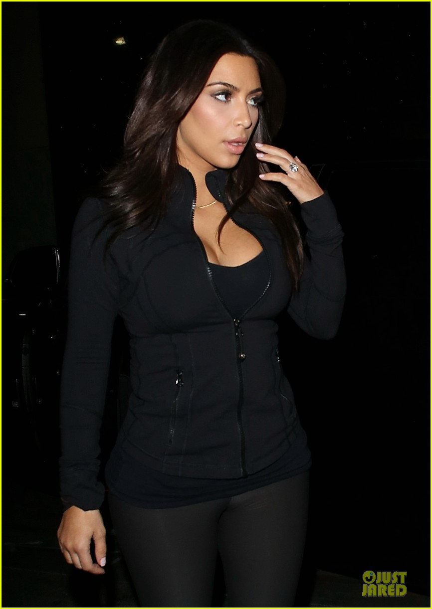 kim kardashian cleavage for soulcycle workout 123069633