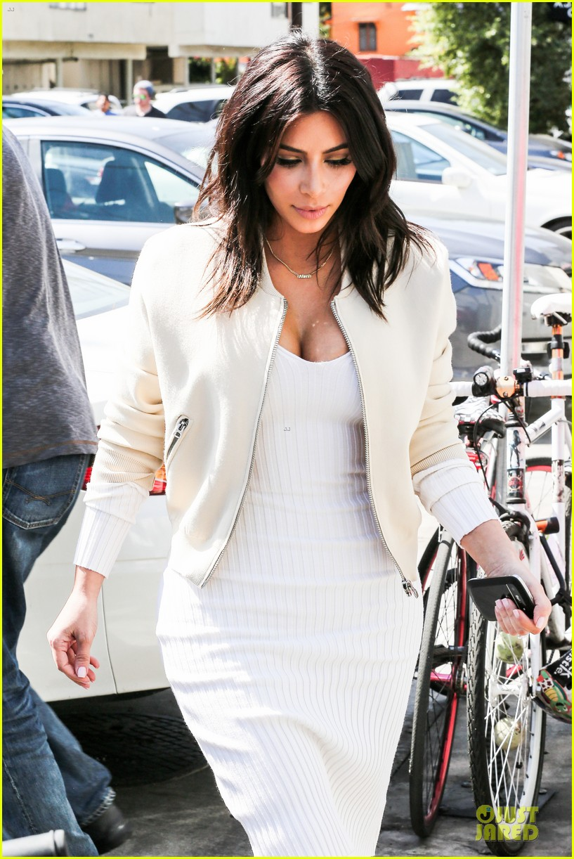 kim kardashian gets ready for summer with white dress 023072578