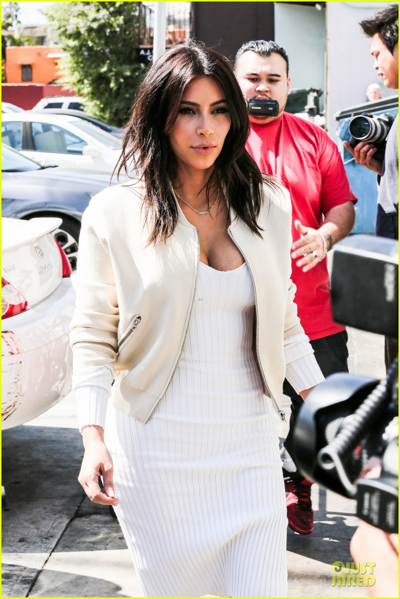 kim kardashian gets ready for summer with white dress 133072589