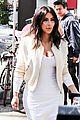 kim kardashian gets ready for summer with white dress 08