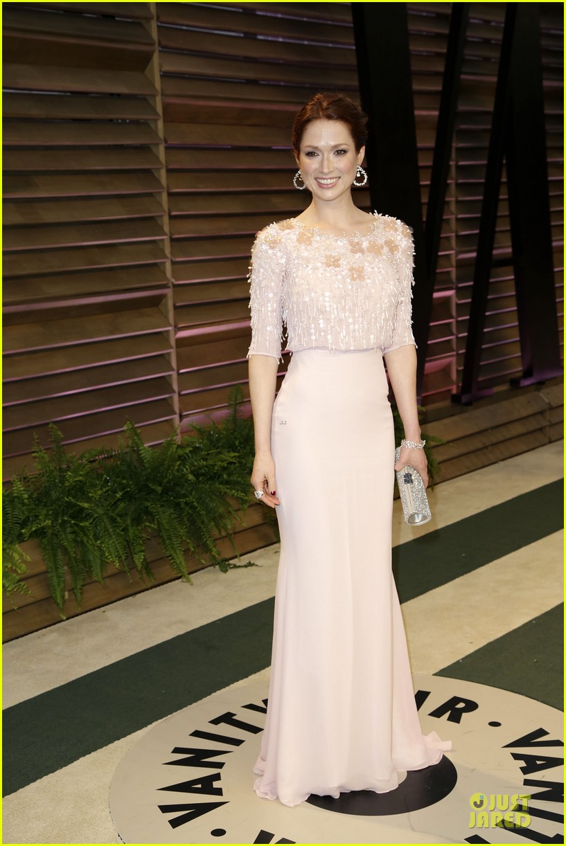 ellie kemper bj novak bring back the office at vanity fair oscars party 2014 033064317