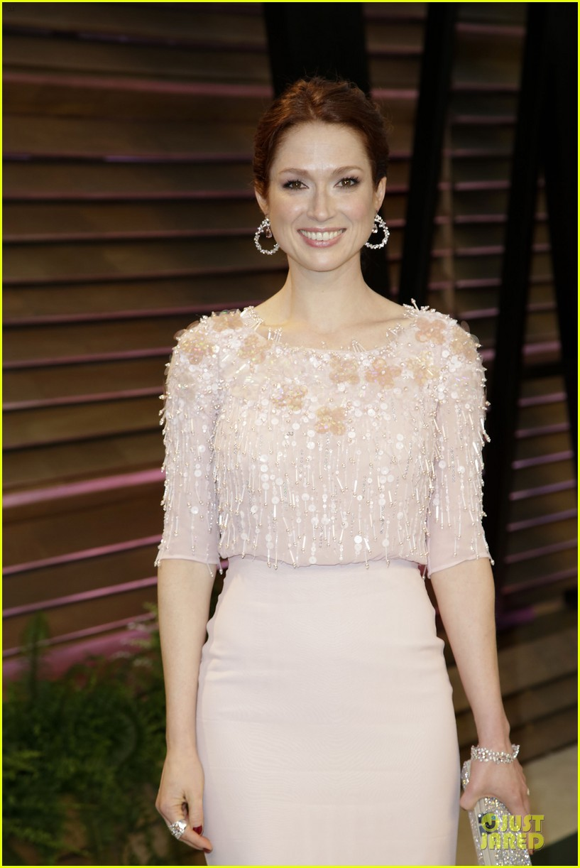 ellie kemper bj novak bring back the office at vanity fair oscars party 2014 093064323