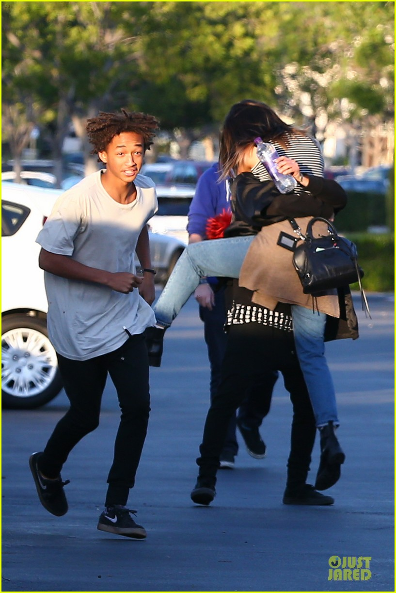 kendall kylie jenner meet up with super excited jaden smith 123072204