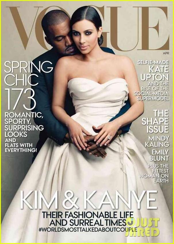 kim kardashian kanye west cover vogue april 2014 013076090