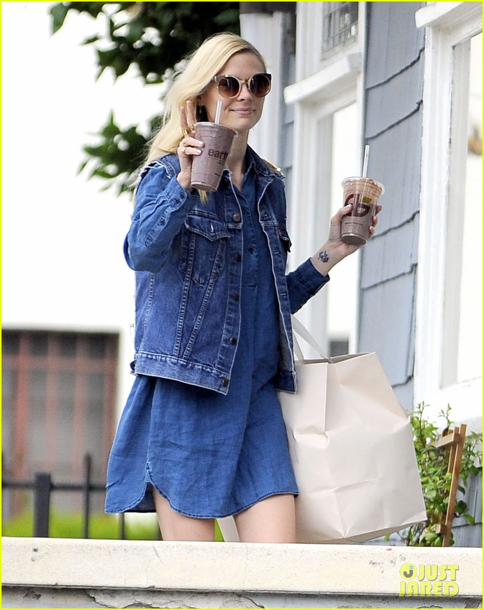 jaime king goes for an all denim look in weho 043077050