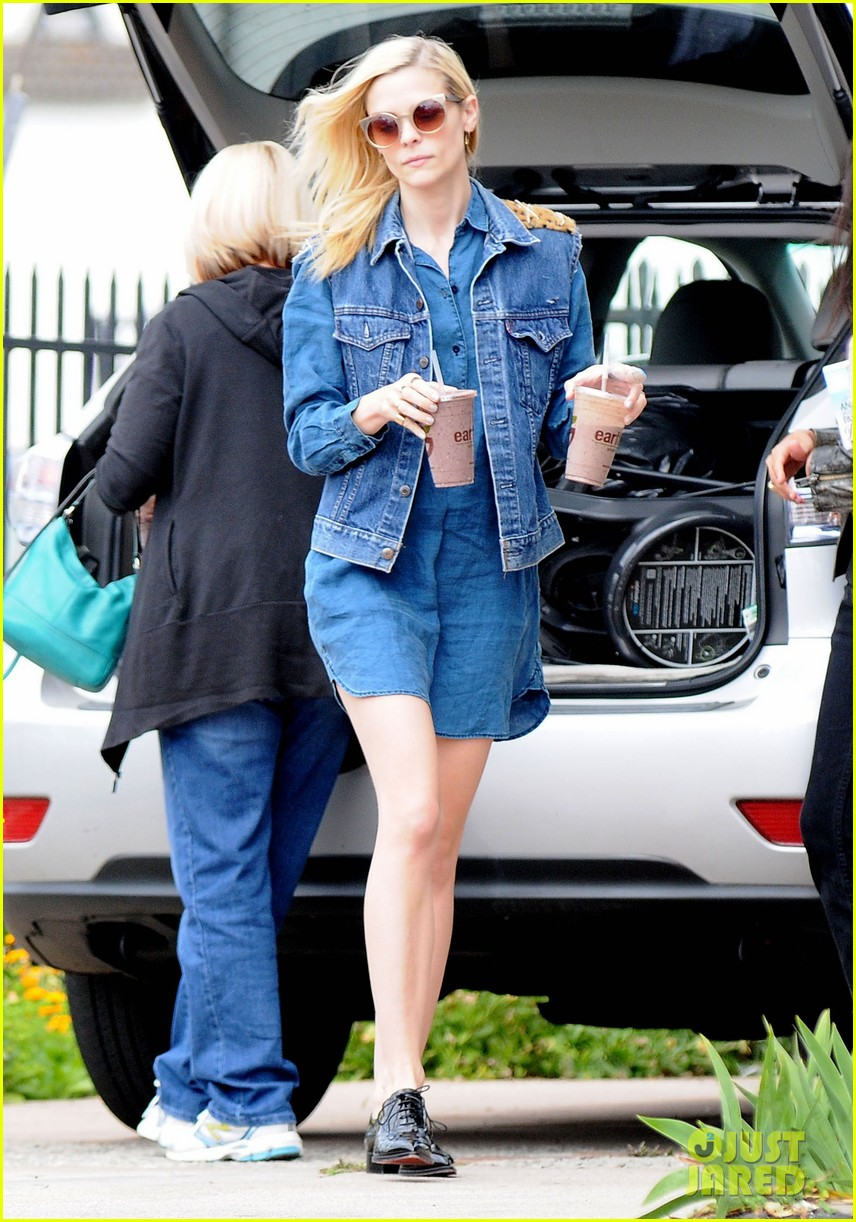 jaime king goes for an all denim look in weho 083077054