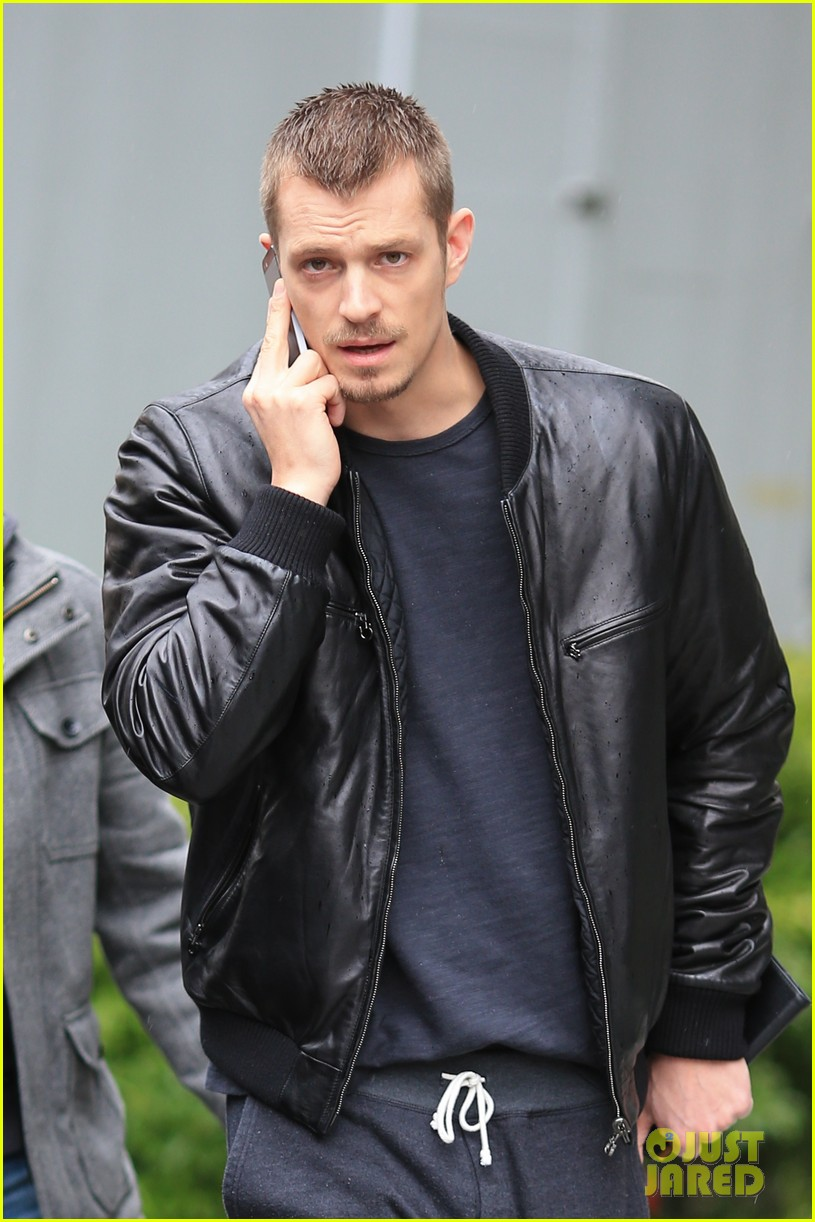 joel kinnaman looks leather jacket cool on the killing set 043067860