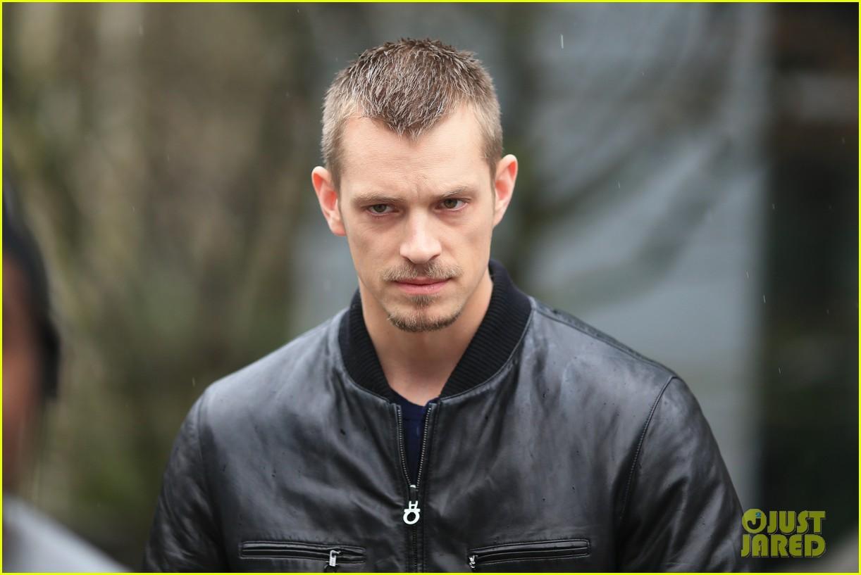 joel kinnaman looks leather jacket cool on the killing set 073067863