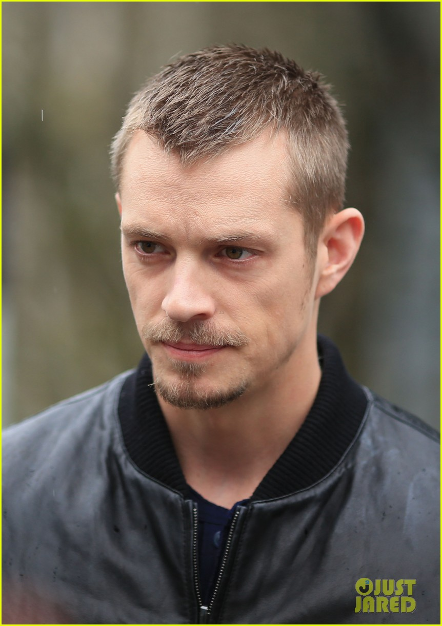 joel kinnaman looks leather jacket cool on the killing set 093067865