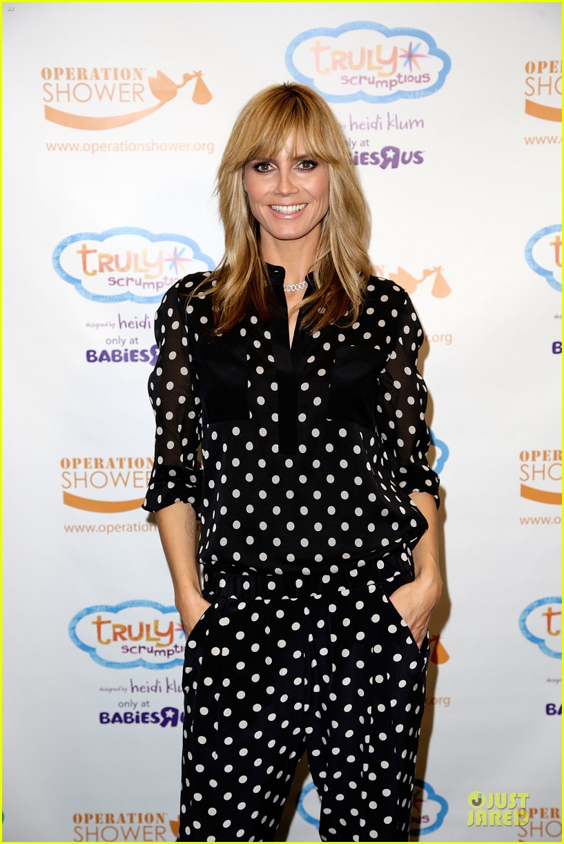 heidi klum is a polkadot sheer host at babies event 073066117