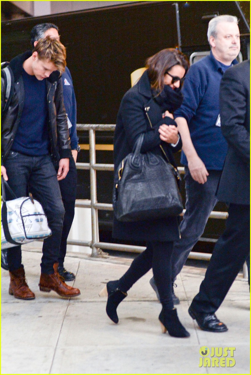 lea michele chord overstreet arrive in new york 03