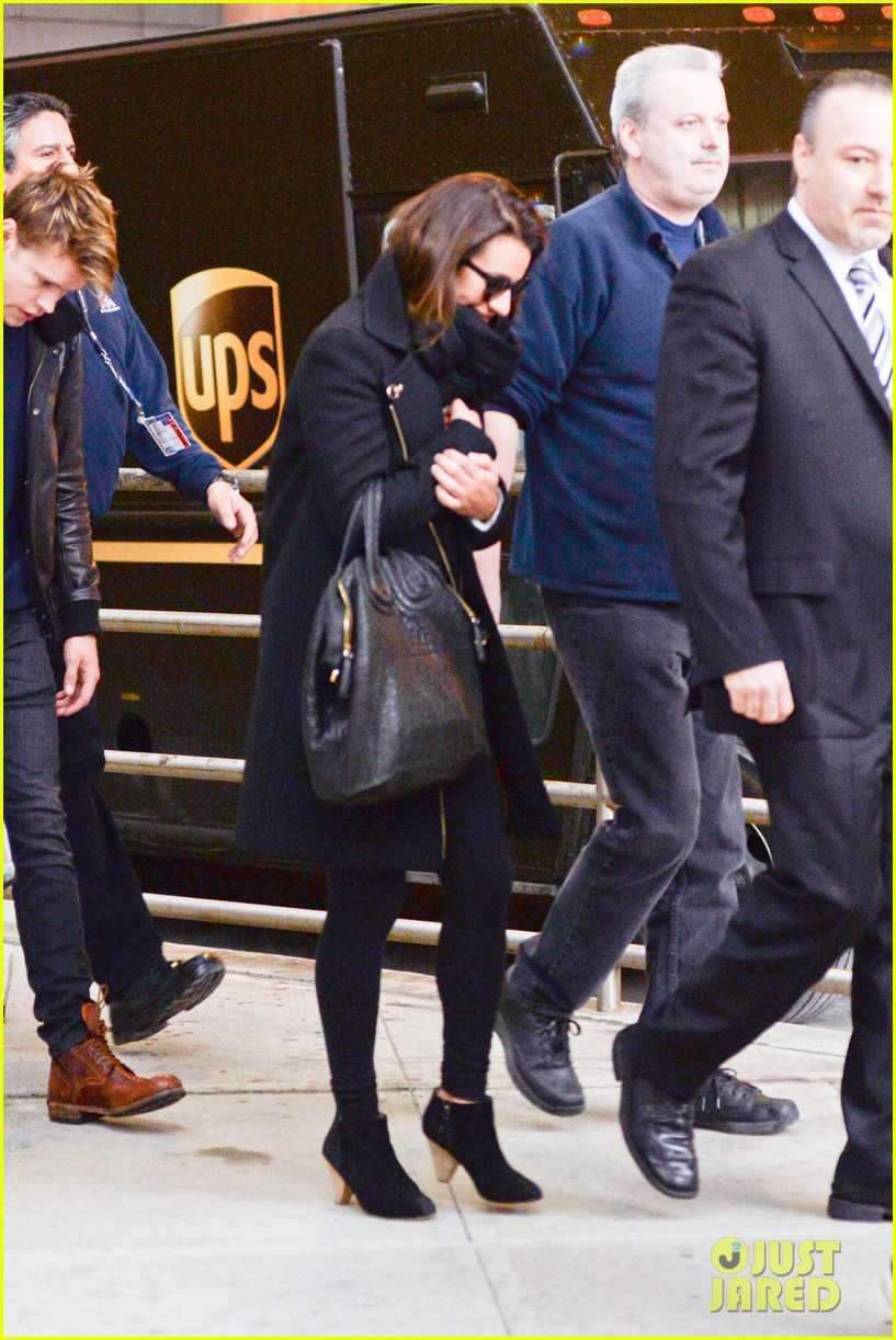 lea michele chord overstreet arrive in new york 14